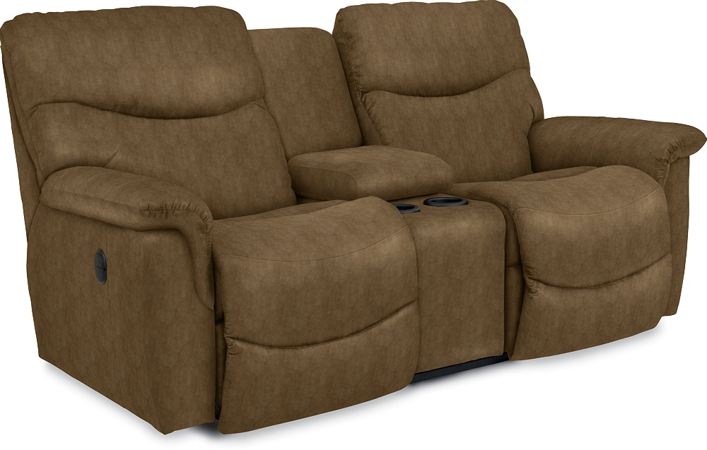 James La Z Time Full Reclining Loveseat W Console