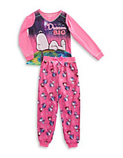Peanuts Tee And Pants Pajama Set