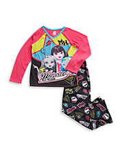Two-Piece Monster All-stars Pajama Set