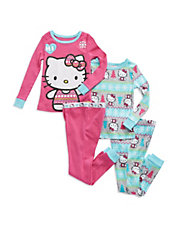 Four-Piece Hello Kitty Pajama Set