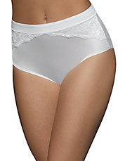 One Smooth U Comfort Indulgence Satin and Lace Modern Briefs