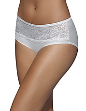 One Smooth U Comfort Indulgence Satin and Lace Hipster