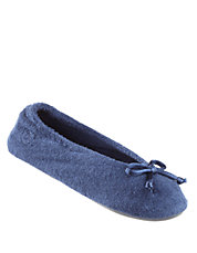 Terry Ballet Flat Slippers