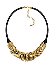 Wavy Disc Collar Necklace