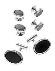 Oval Cuff Links and Matching Studs