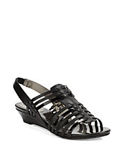 Faiza Leather Slingback Sandals