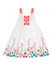 Girls 2-6x Coral Floral Meadow Dress