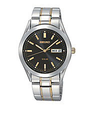 Mens Two-Tone Stainless Steel Dress Watch