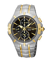 Mens Stainless Steel Solar Alarm Chronograph Watch