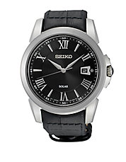 SNE397 Le Grand Sport Black Leather Strap Watch