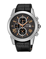 SSC379 Le Grand Sport Black Leather Strap Chronograph