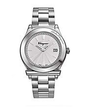 Mens 1898 Round Stainless Steel Watch