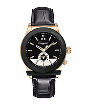 Mens 1898 Rose Gold Dual Time Watch