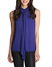 Necktie Sleeveless Blouse