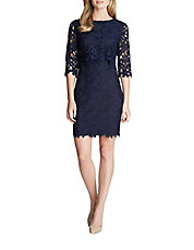 Audrey Floral Lace Shift Dress