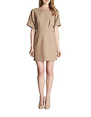 Ava Structured Dolman-Sleeve Sheath Dress