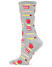 Back To School Printed Socks