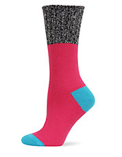 Color Blocked Marled Boot Socks