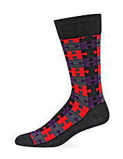 Puzzle Pattern Socks