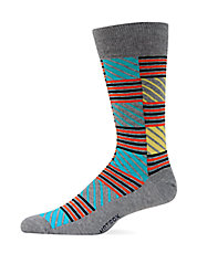 Contrast Striped Crew Socks