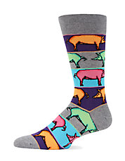 Pop Art Pig Trouser Socks