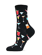 Tropical Drinks Printed Trouser Socks
