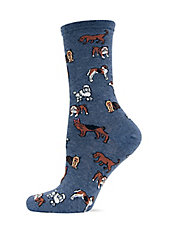 Dog Printed Trouser Socks