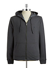 Knit Cotton-Blend Hoodie