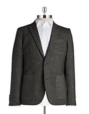 Two-Button Herringbone Blazer