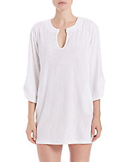 Sculpted Terry Roll Sleeve Tunic