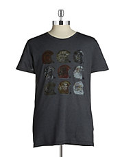 Football Helmet Cotton Tee