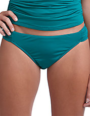 Shirred Hipster Swim Bottoms