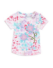 Girls 2-6x Tie-Dyed Flower Top