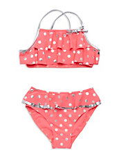 Girls 2-6x 2-Piece Polka Dot Bikini Set