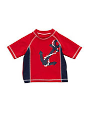 Baby Boys Anchor Graphic Swim Shirt