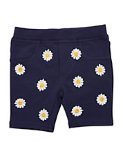 Girls 2-6x Daisy-Bedecked Shorts