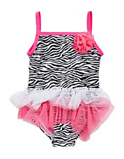 Baby Girls Animal Print One-Piece Swimsuit