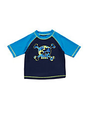 Baby Boys Skull And Crossbones Swim Shirt