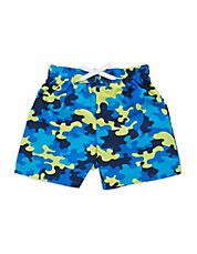 Baby Boys Camouflage Print Swim Trunks