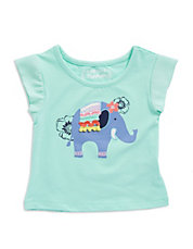Girls 2-6x Elephant Summer Fun Tee
