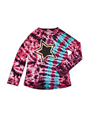 Girls 2-6x Tie Dye Star Top