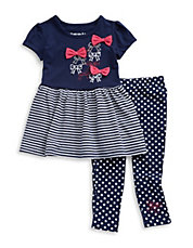 Girls 2-6x Two-Piece Dress and Leggings Set