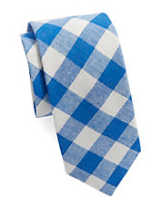 Gingham Plaid Tie