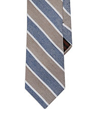 Silk Diagonal Striped Tie