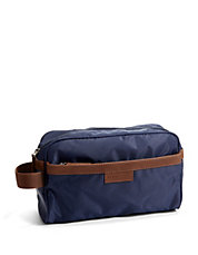 Travel Kit With Faux Leather Trim