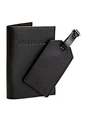 Leather Passport Case and Luggage Tag