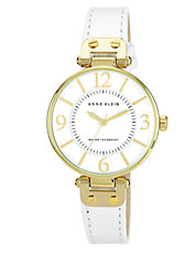 Ladies White Leather Watch