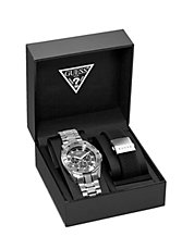 Mens Round-Dial Interchangeable Watch Set