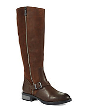 Suede Riding Boots