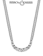 Diamond and 14K White Gold Necklace, 1 TCW
